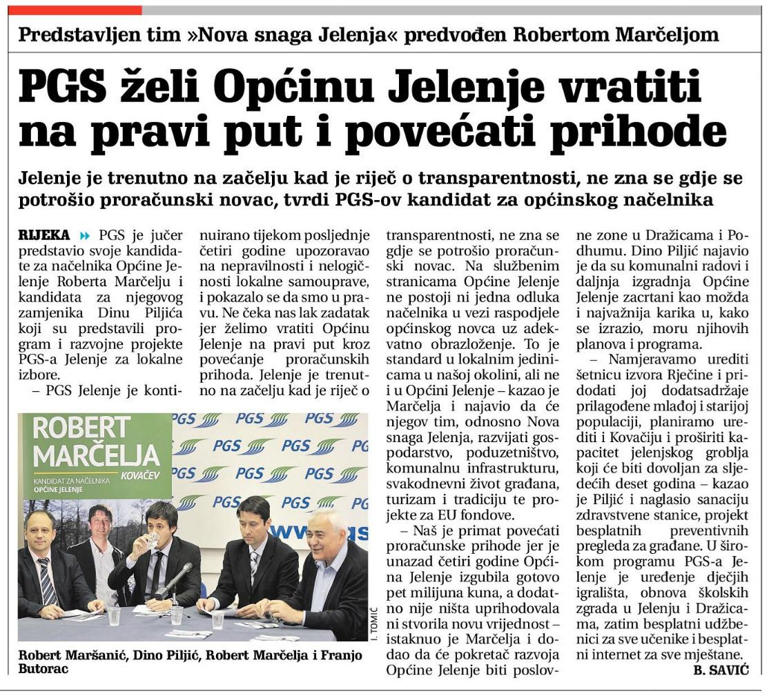 pgs_jelenje_novi_list_nova_snaga_jelenja - PGS želi Općinu Jelenje vratiti na pravi put i povećati prihode - Novosti
